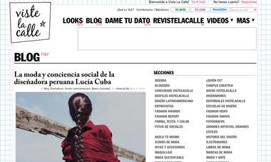 11a890bfa0c3b La moda y conciencia social de la diseñadora peruana Lucía Cuba