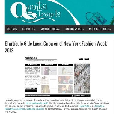 c0d5872a423d1 El artículo 6 de Lucía Cuba en el New York Fashion Week